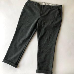 GAP Double Knit Girlfriend Charcoal Gray Pants 16S